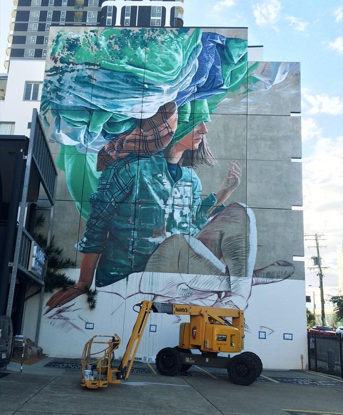 Fintan Magee Street Art Brisbane