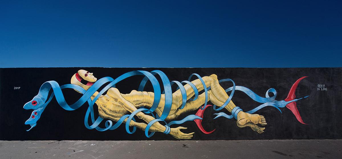Gods in Love Street Art Civitanova Marche Vedo a Colori