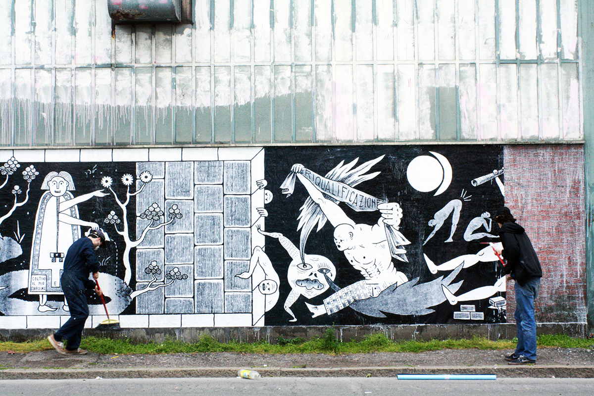 Guerrilla Spam Street Art Bologna CHEAP Festival 2017