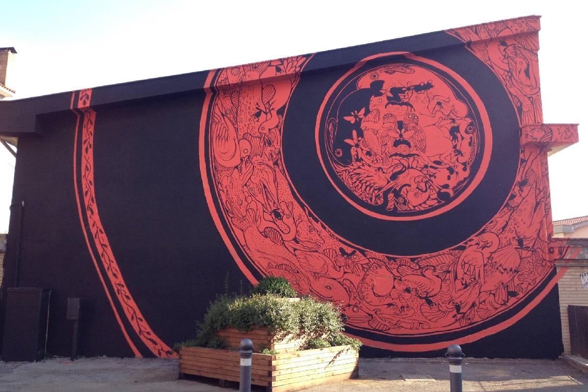 Hitnes Street Art La Collazione Sommersa