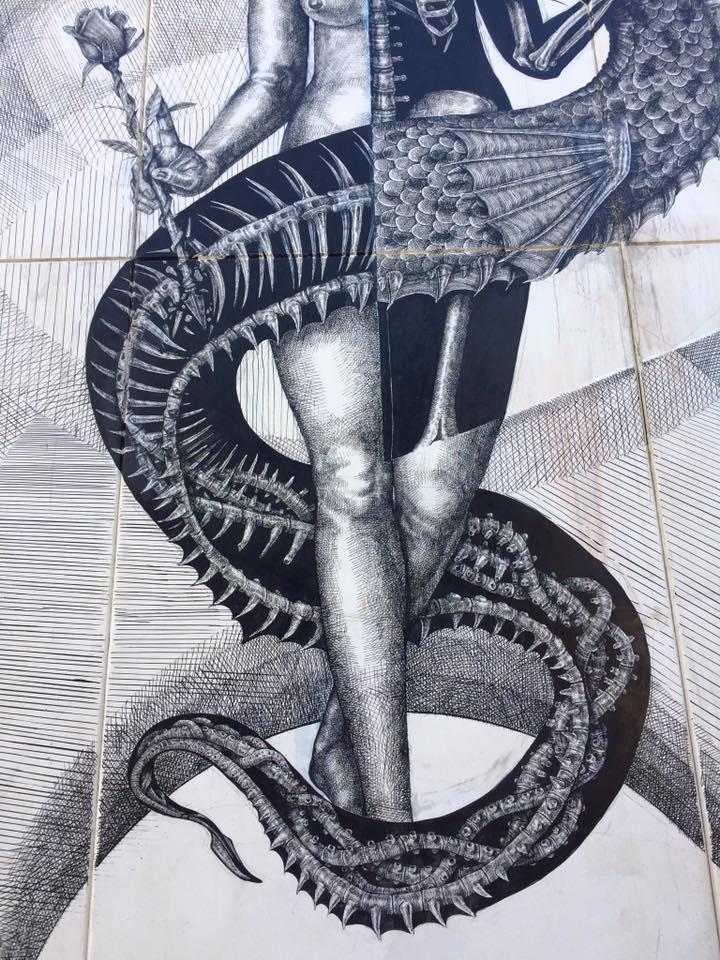 Alexis Diaz Street Art Poliniza Dos Festival Valencia