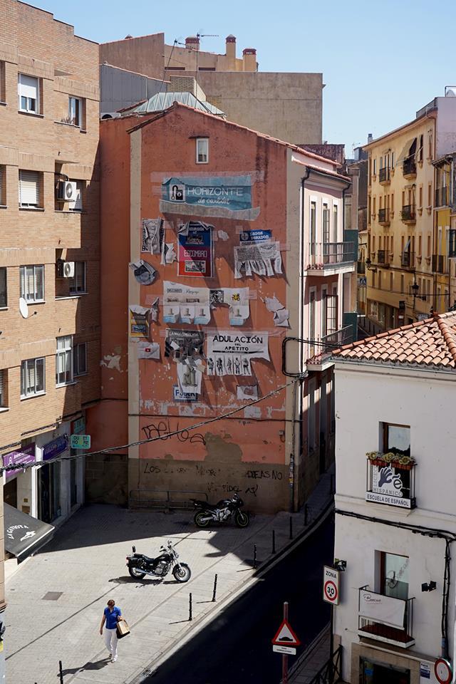 Daniel Muñoz SAN street art Cáceres Abierto
