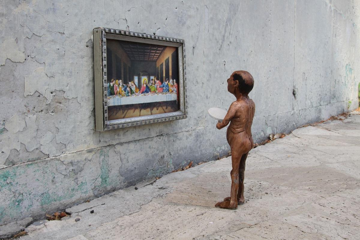 Isaac Cordal Street Art San Basilio HISPAM Roma