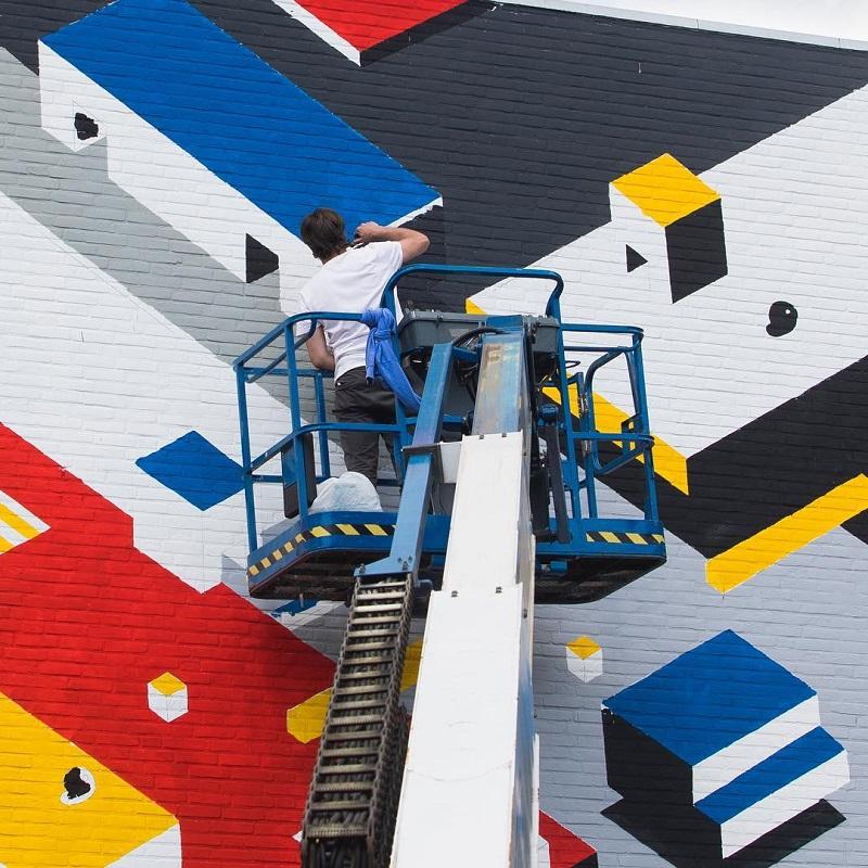 Johan Moorman Street Art Utrecht De Stijl In De Stad