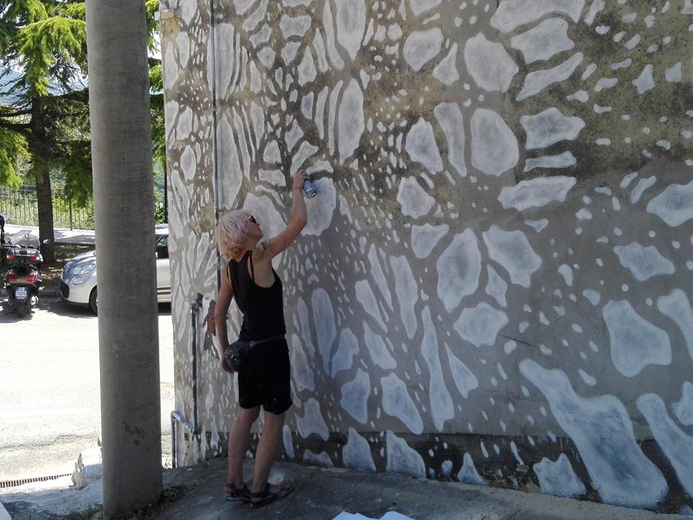 NeSpoon Street Art Civitacampomarano CVTÀ Street Art Fest