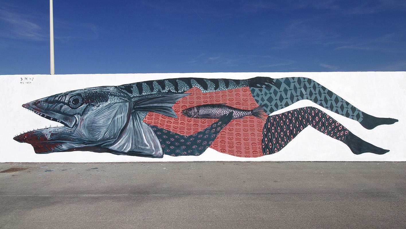 Nicola Alessandrini Lisa Gelli street art Civitanova Marche Vedo a colori