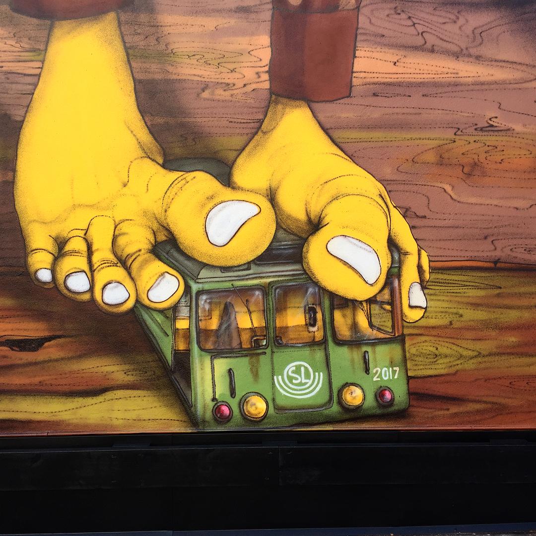 Os Gemeos street art Stockholm