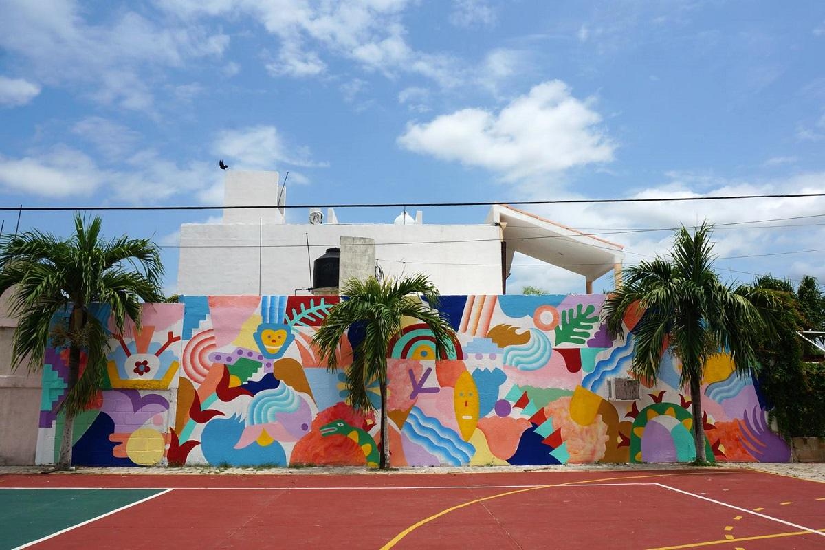 Zosen Mina Hamada Street Art Villas Tulum, Mexico