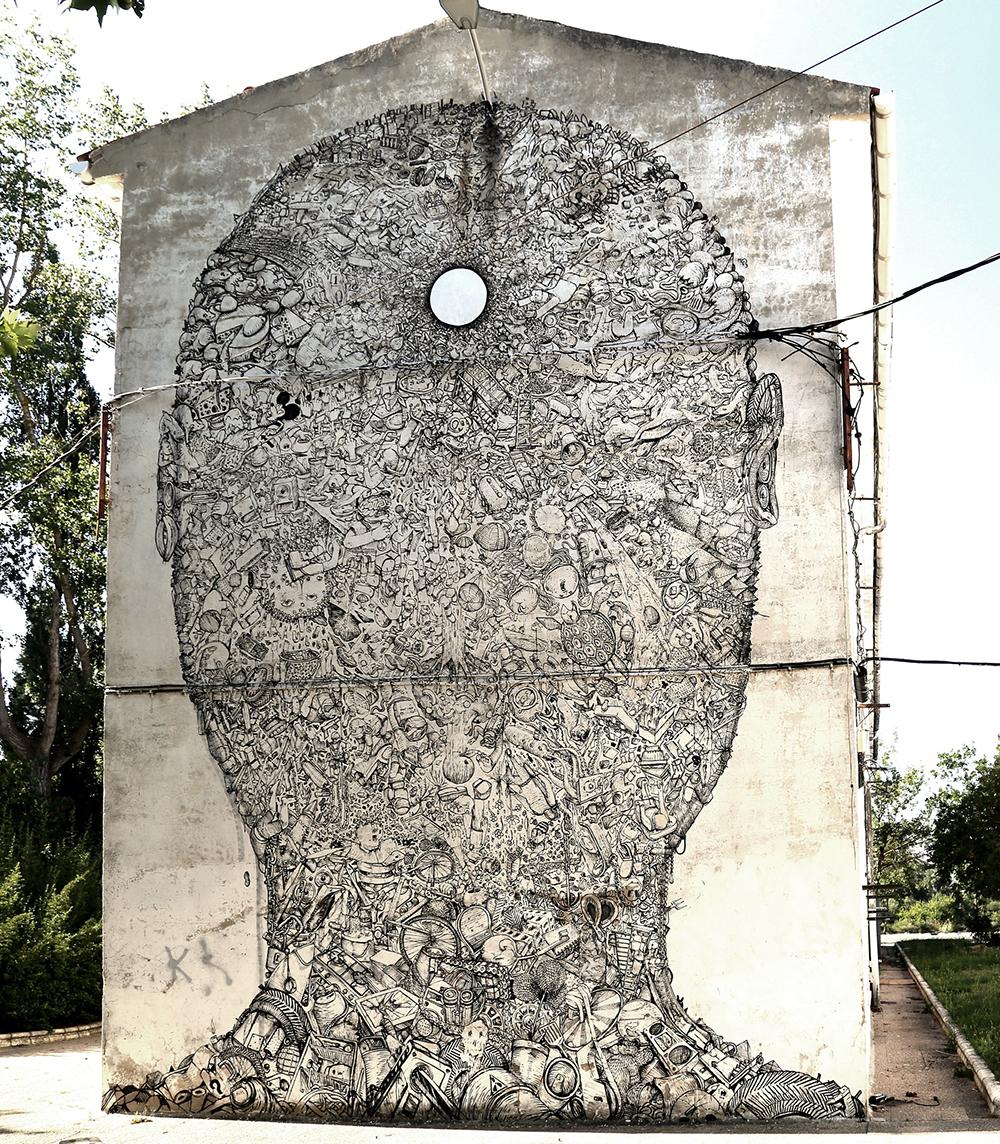BLU street art ERREKALEOR BIZIRIK