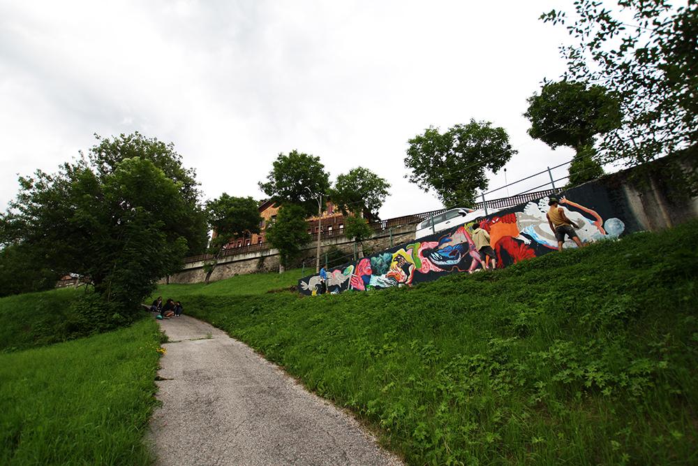 Canemorto Emajons Sbrama Street Art Belluno Clorofilla
