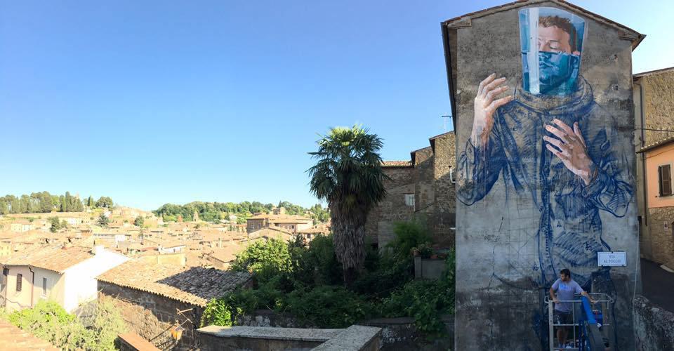 Fintan Magee Street Art Acquapendente Urban Vision Festival