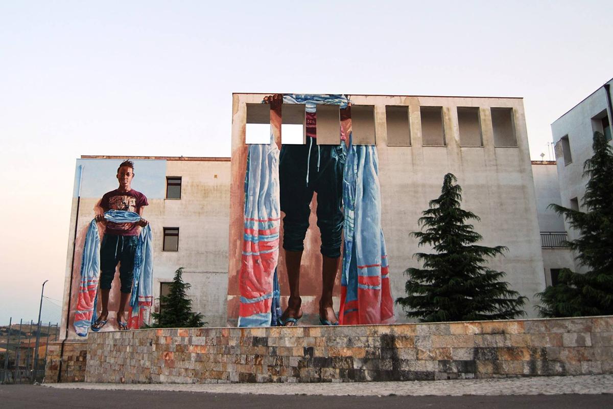 Fintan Magee Street Art Monteleone di Puglia Willoke Festival