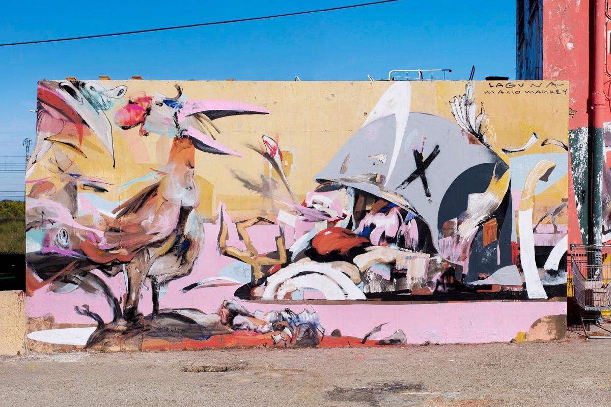 Laguna Mario Mankey Street Art Sagunto