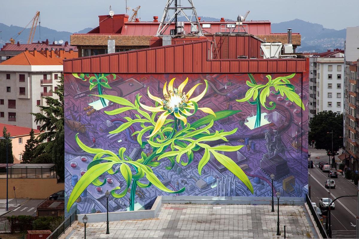 Liqen Mona Caron Street Art Vigo