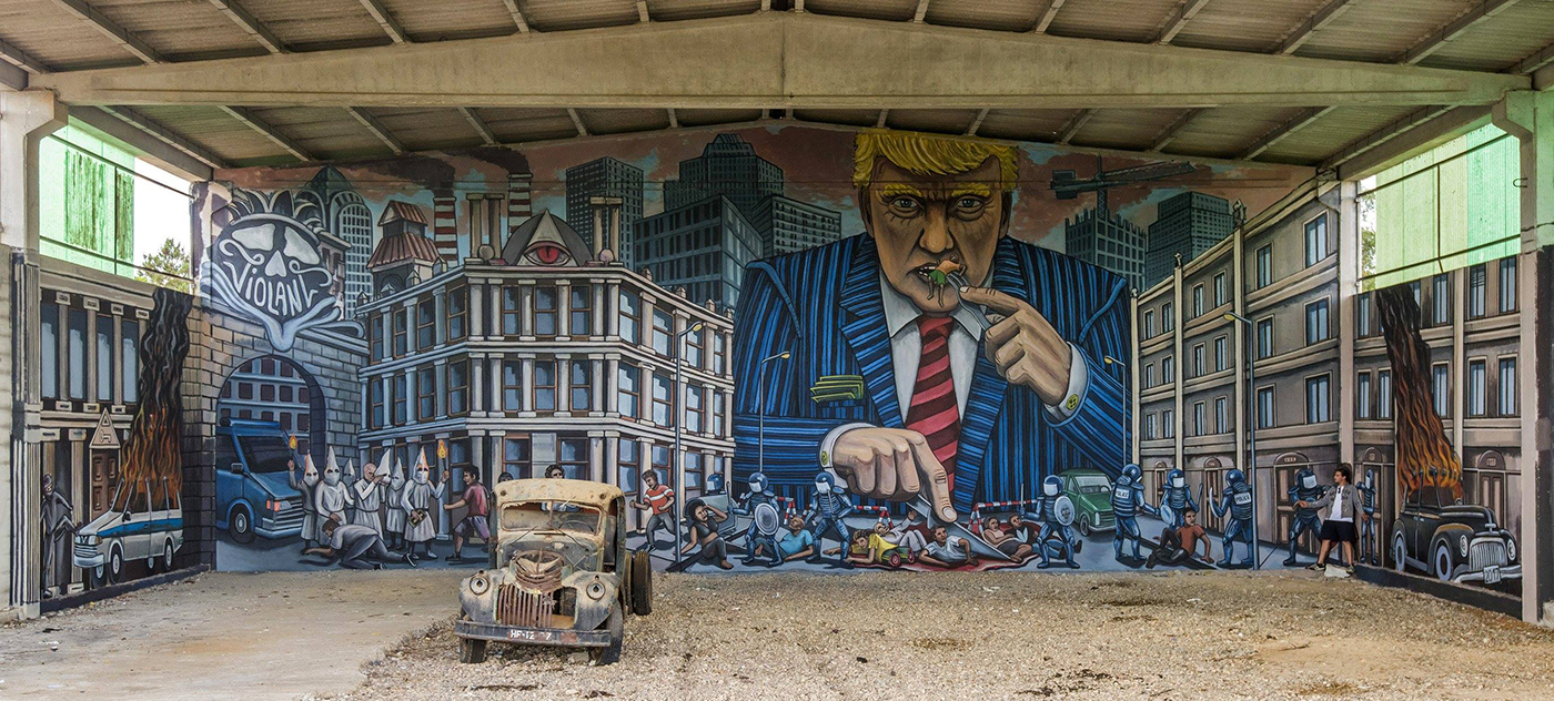 Violant Street Art Trump