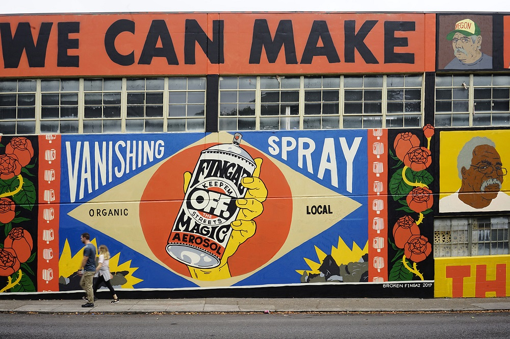 Broken Fingaz Street Art Portland
