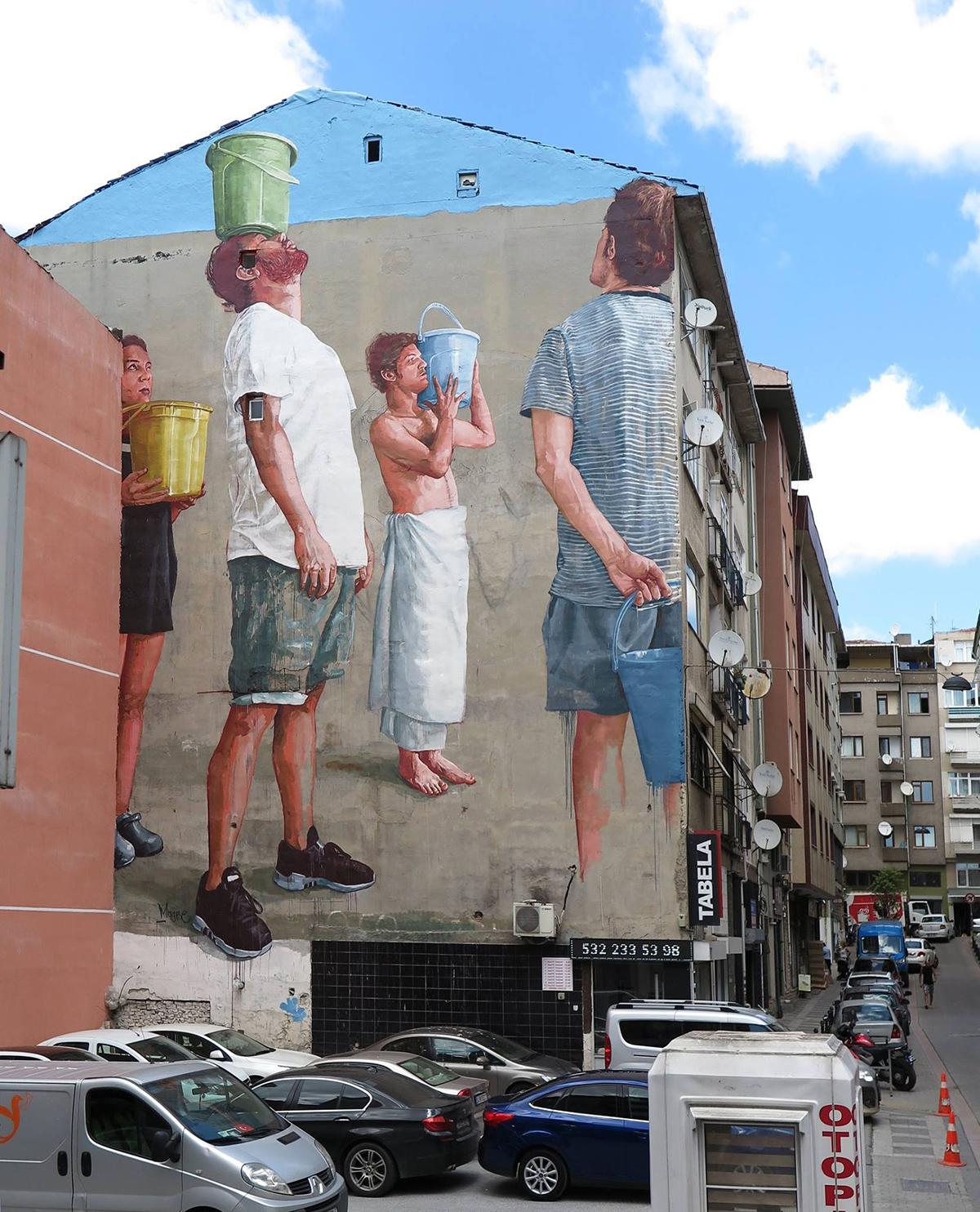 Fintan Magee Pray for Rain Street Art Istanbul