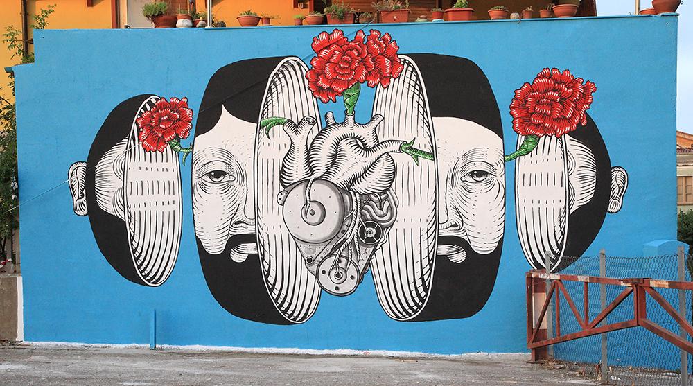 Andrea Casciu Street Art San Gavino