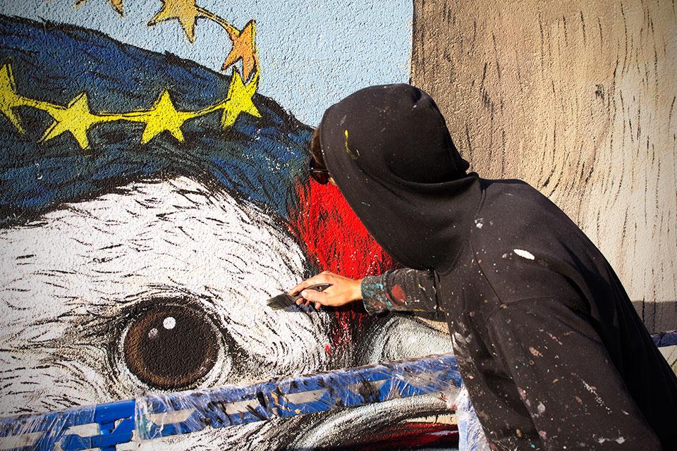 Ericailcane Street Art Munich Positive Propaganda