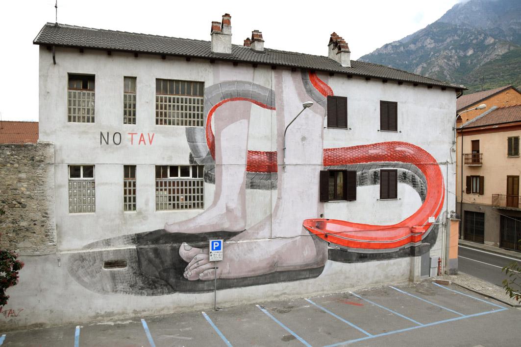Escif Street Art Val di Susa No Tav WallSusa