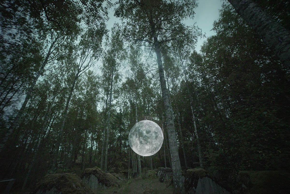 Faith47 Lyall Sprong Street Art Installation Moon Forest Sweden