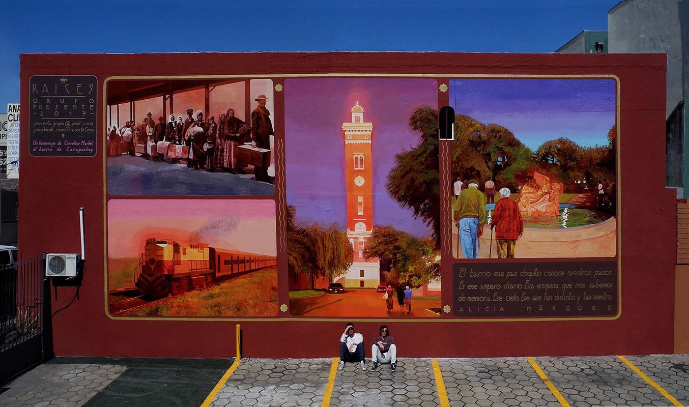 Grupo Presente Street Art Carapachay, Buenos Aires