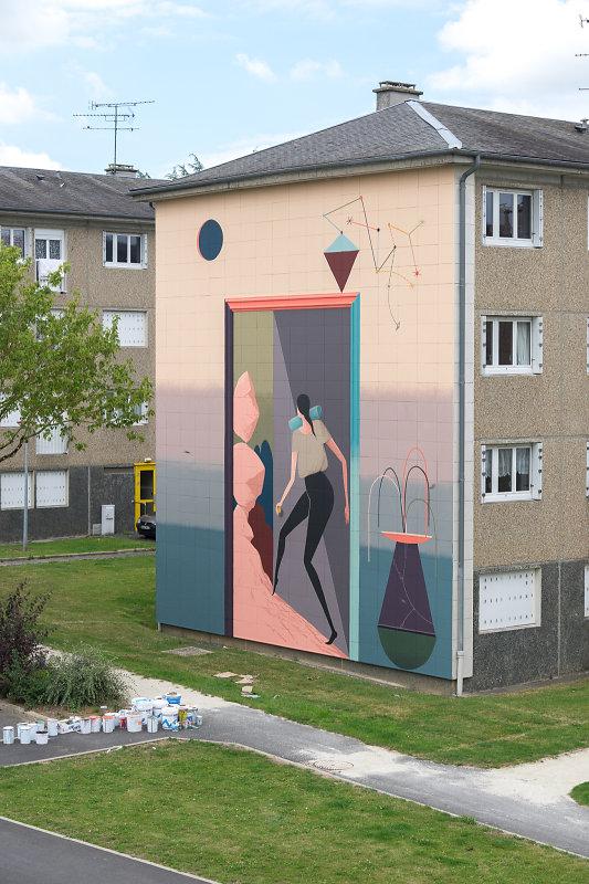 Mioshe Street Art Avranches