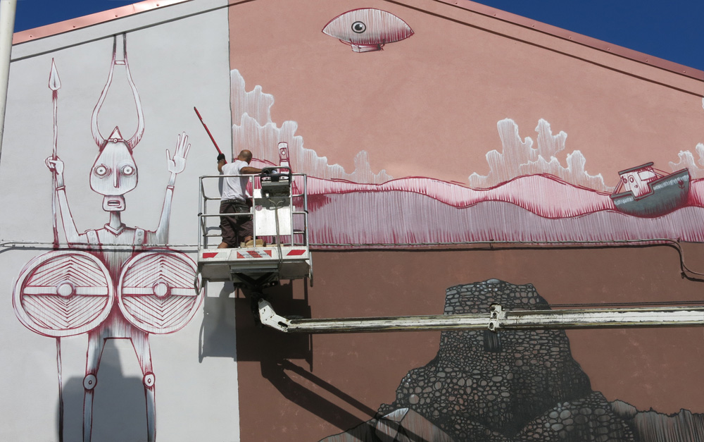 MrFijodor Street Art Macomer San Gavino Sardinia