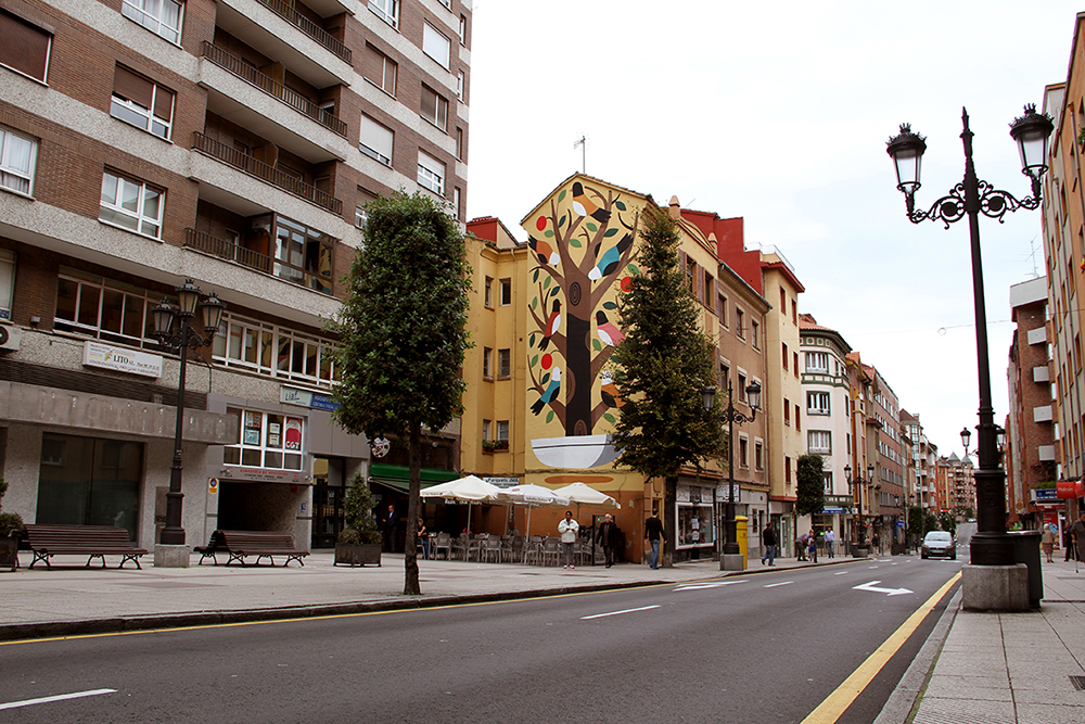 Agostino Iacurci Street Art Oviedo Paredes Fest