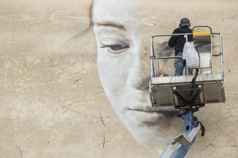 Guido Van Helten Street Art FestiWall Ragusa