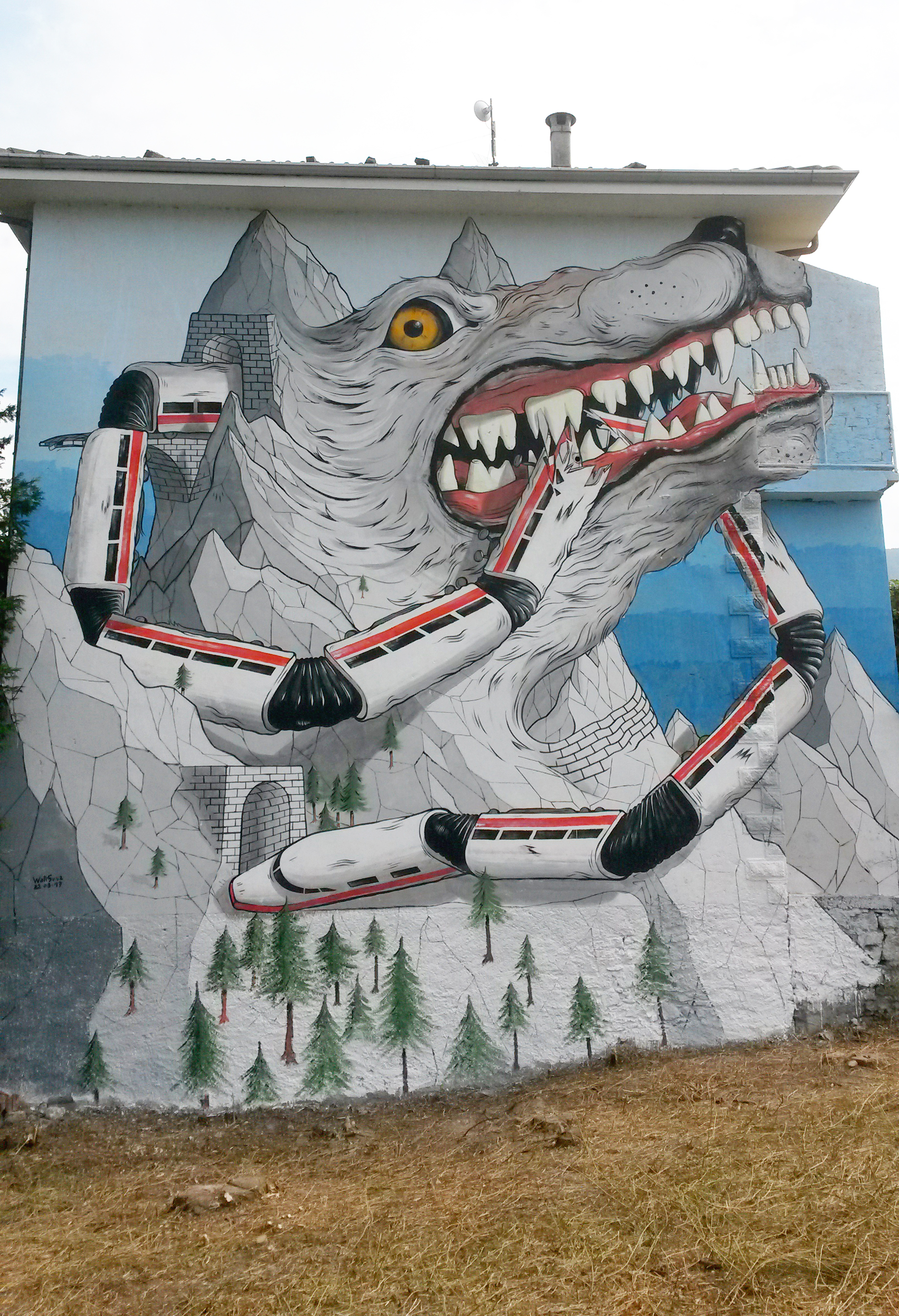 Alleg Street Art Val di Susa WallSusa