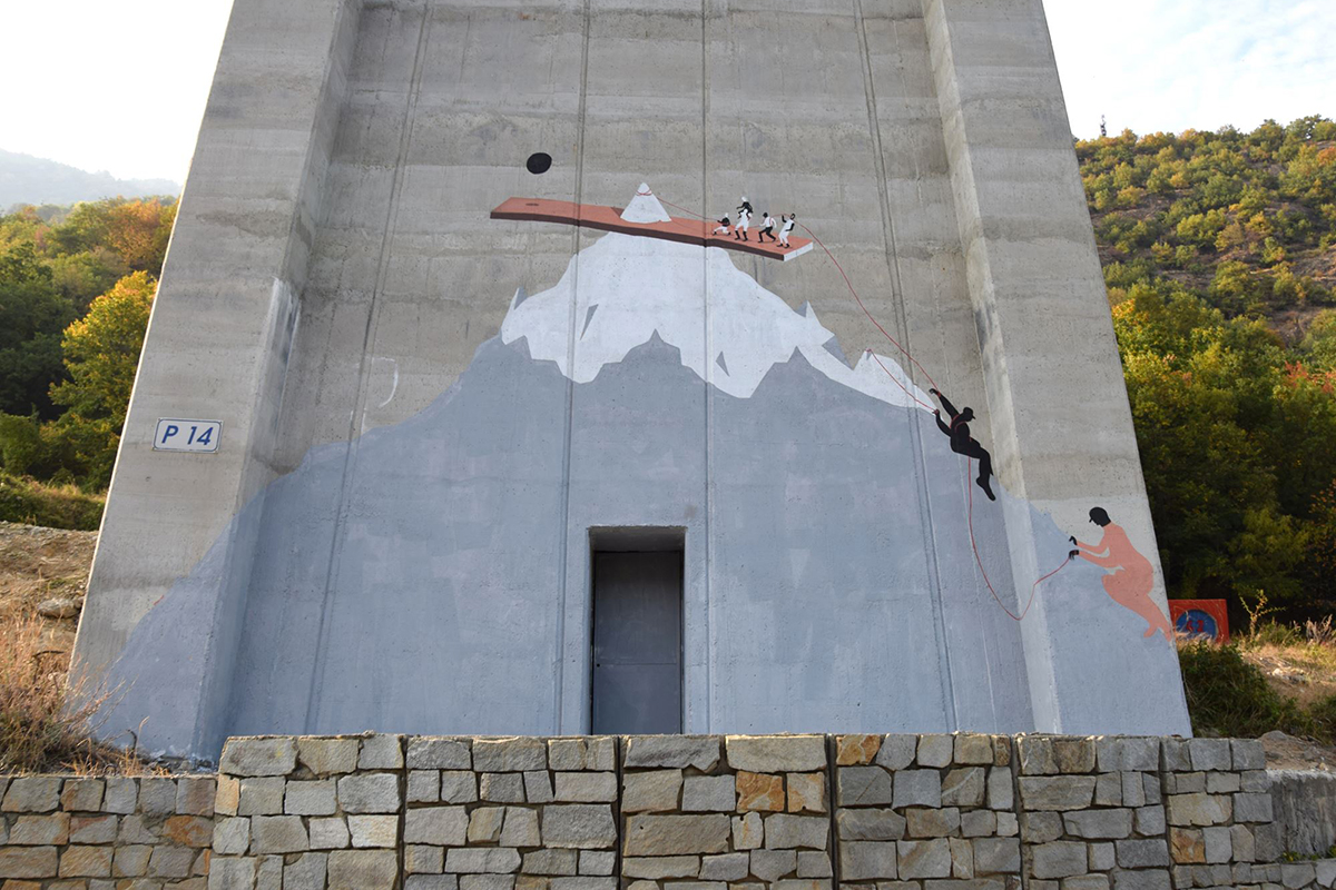 Cyop & Kaf Street Art WallSusa Val di Susa