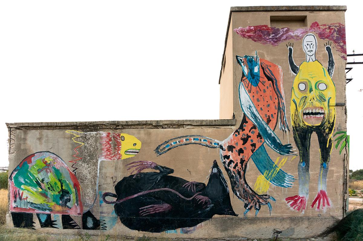 Emajons Sbrama Street Art Cagliari La Galleria del Sale