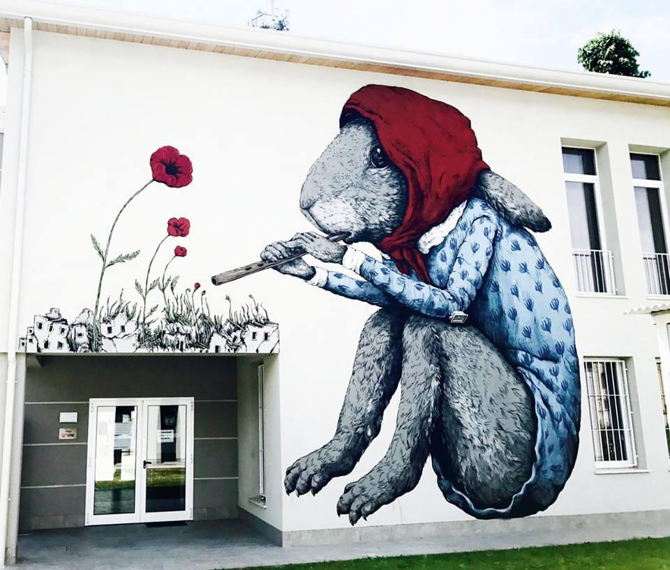Ericailcane Bastardilla Street Art Novi di Modena