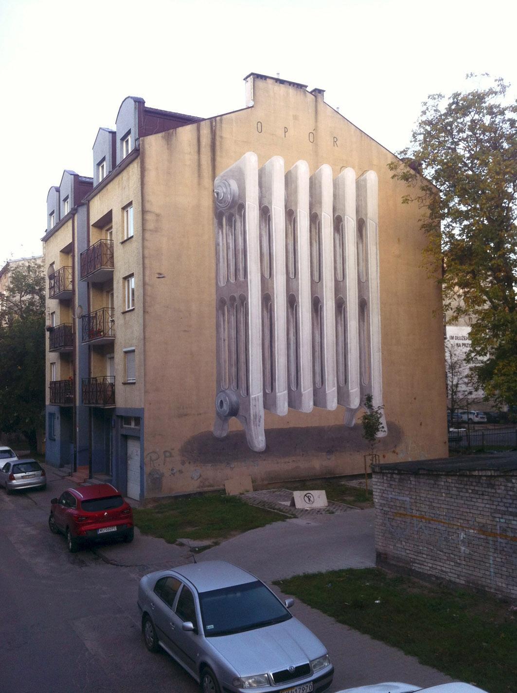 Escif Street Art Warsaw Praga Połnoc