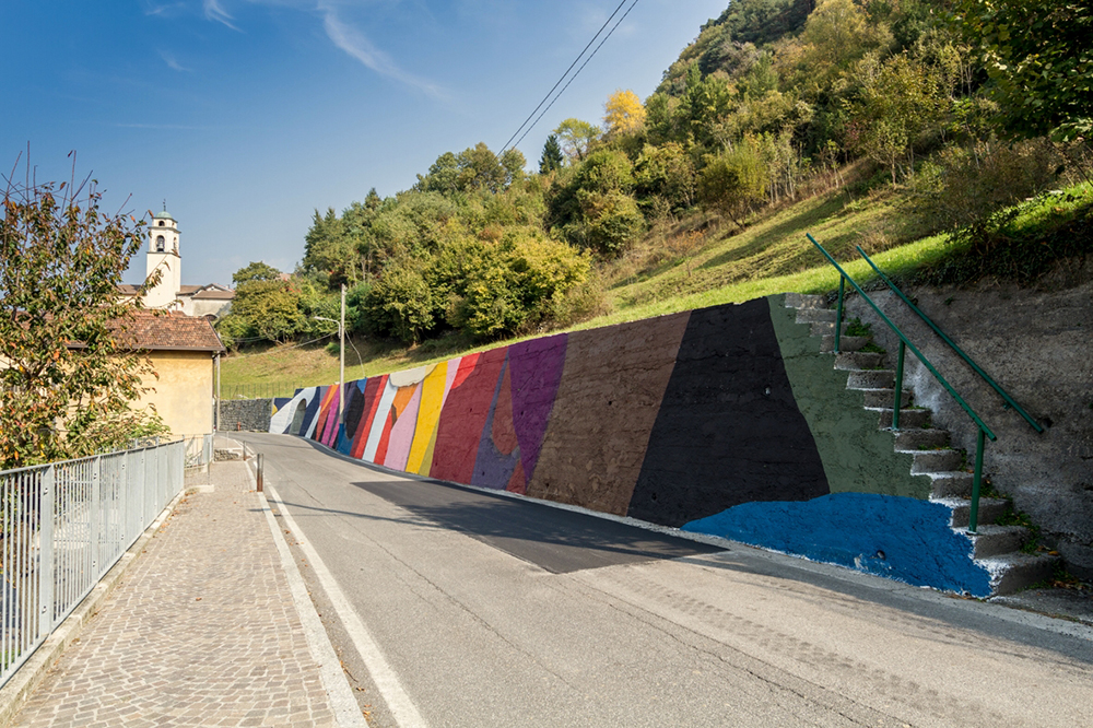Moneyless Street Art Valle Camonica Wall in Art Braone
