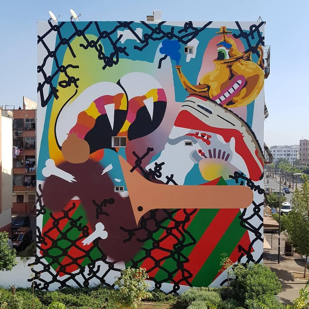 Nano4814 Street Art Casablanca BaghaBagha Casablanca Street Art Festival