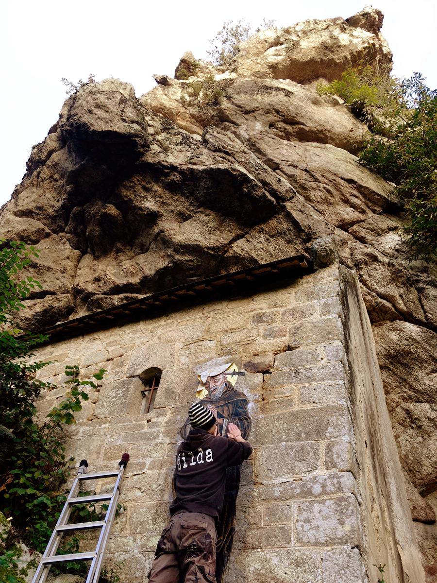 Zilda Street Art Chapelle Saint-Gildas de Bieuzy