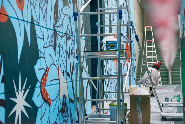 Geometricbang Street Art Officina degli Esordi Bari Pigment Workroom