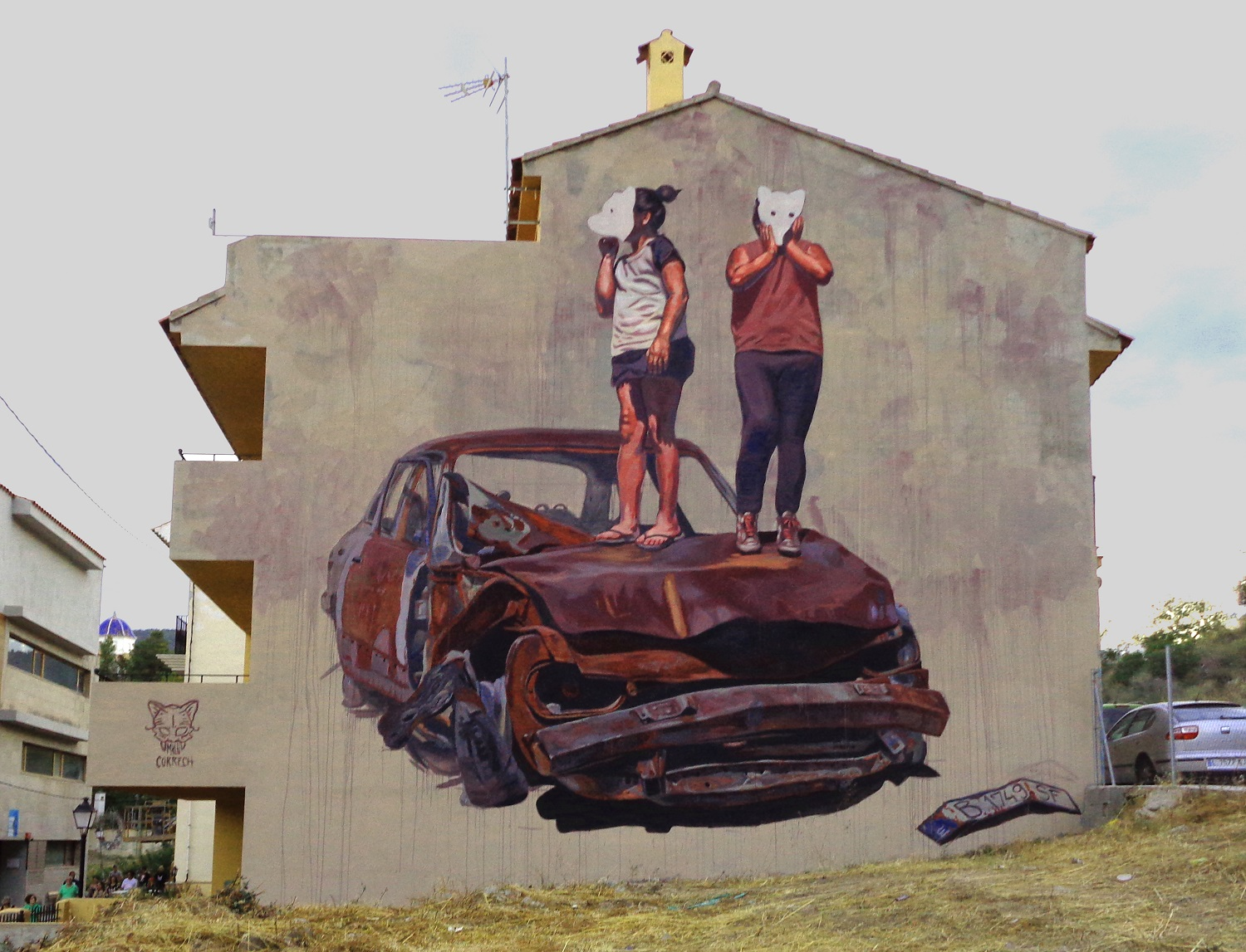 Milu Correch Street Art Among Ashes Series Murals