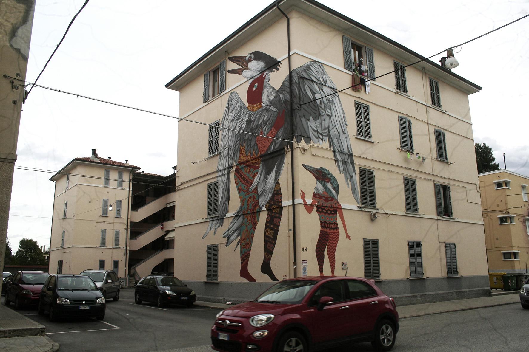 Nicola Alessandrini Lisa Gelli Street Art Jesi Specie Migranti