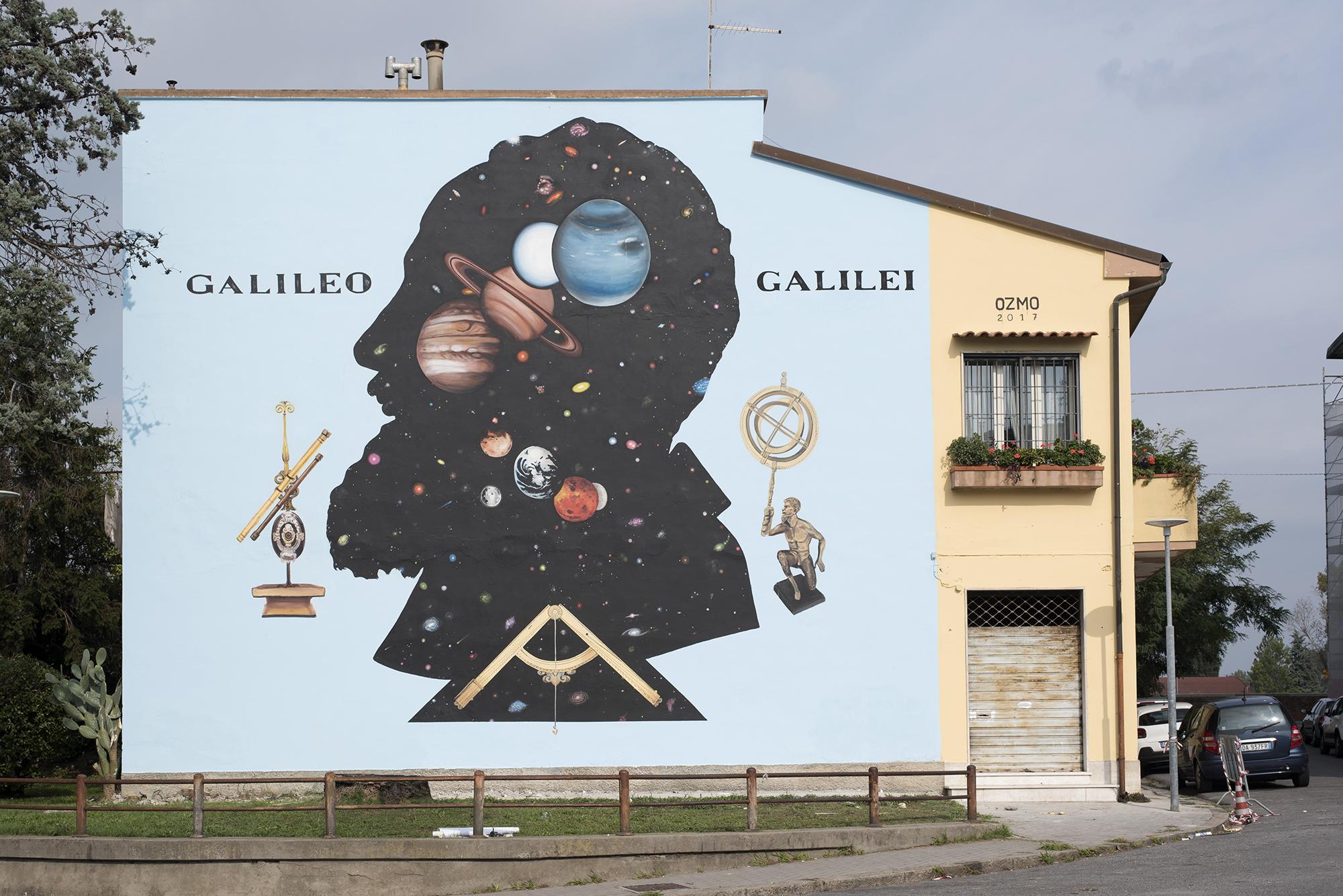Ozmo Street Art Galileo Galilei Pisa