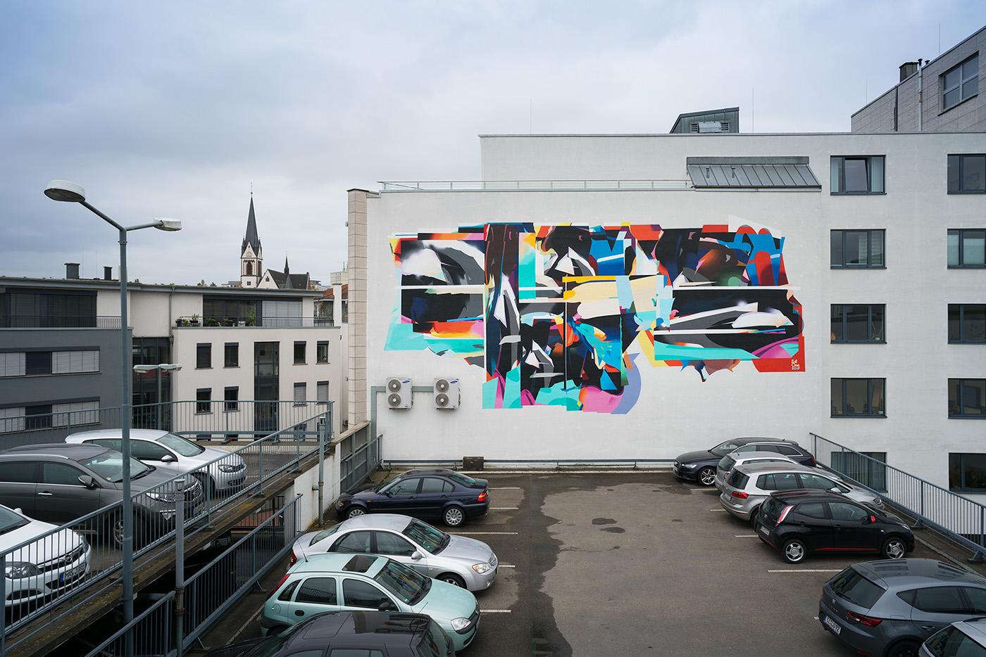 SatOne Street Art Giessen Rivertales Festival