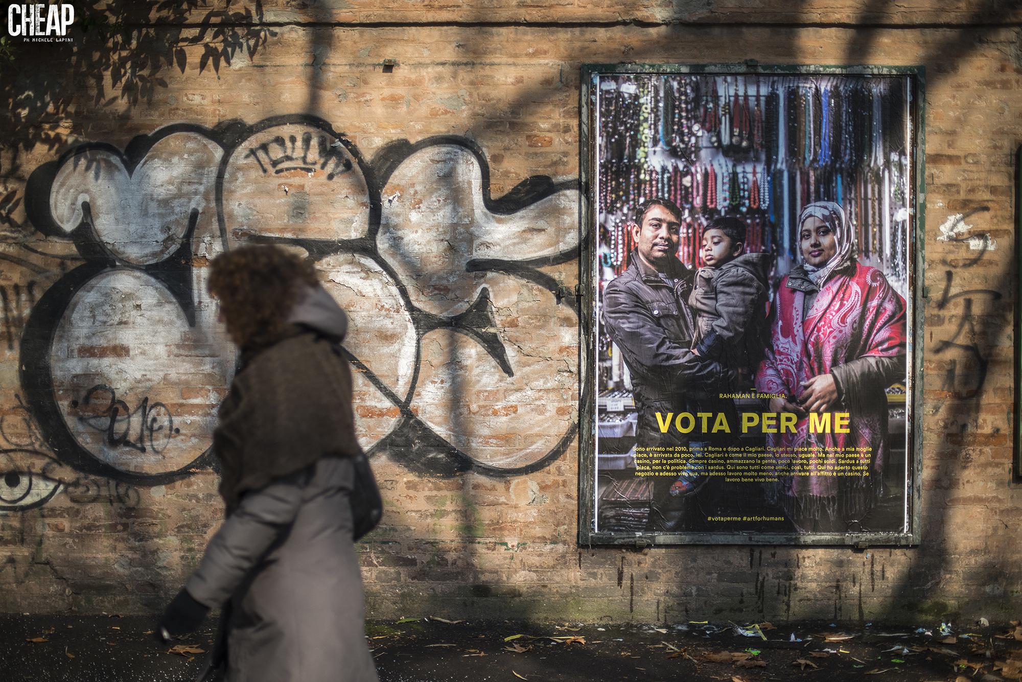 VOTA per ME affissioni poster Bologna