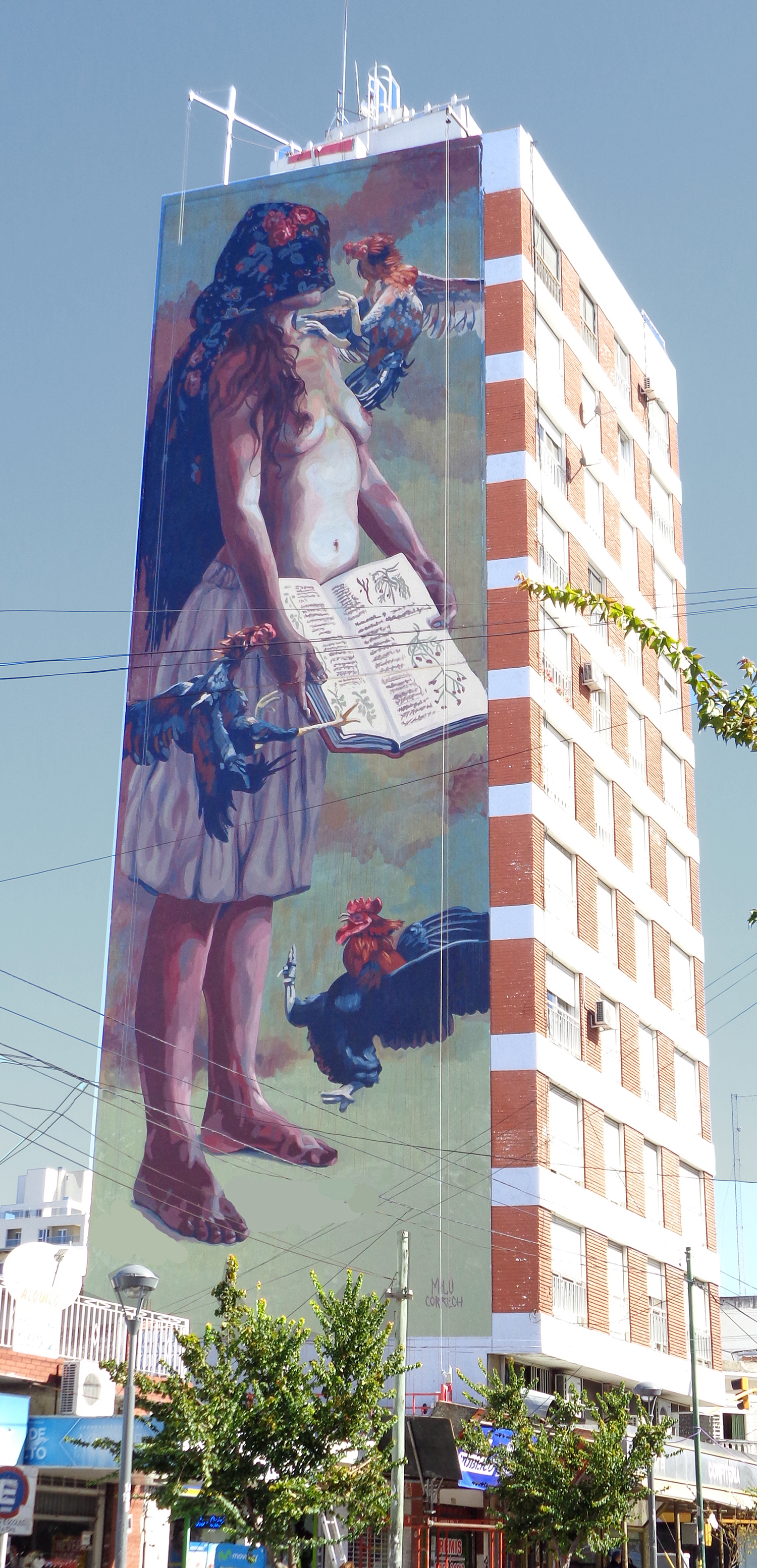 Milu Correch Street Art Berazategui, Buenos Aires Muro Urbano