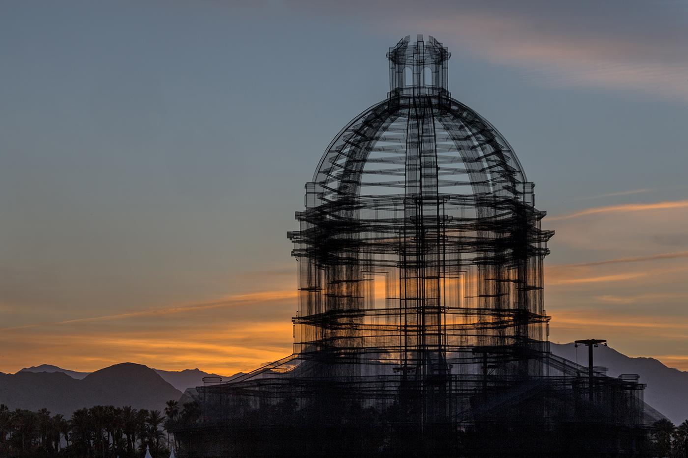 Edoardo Tresoldi Installation Coachella 2018