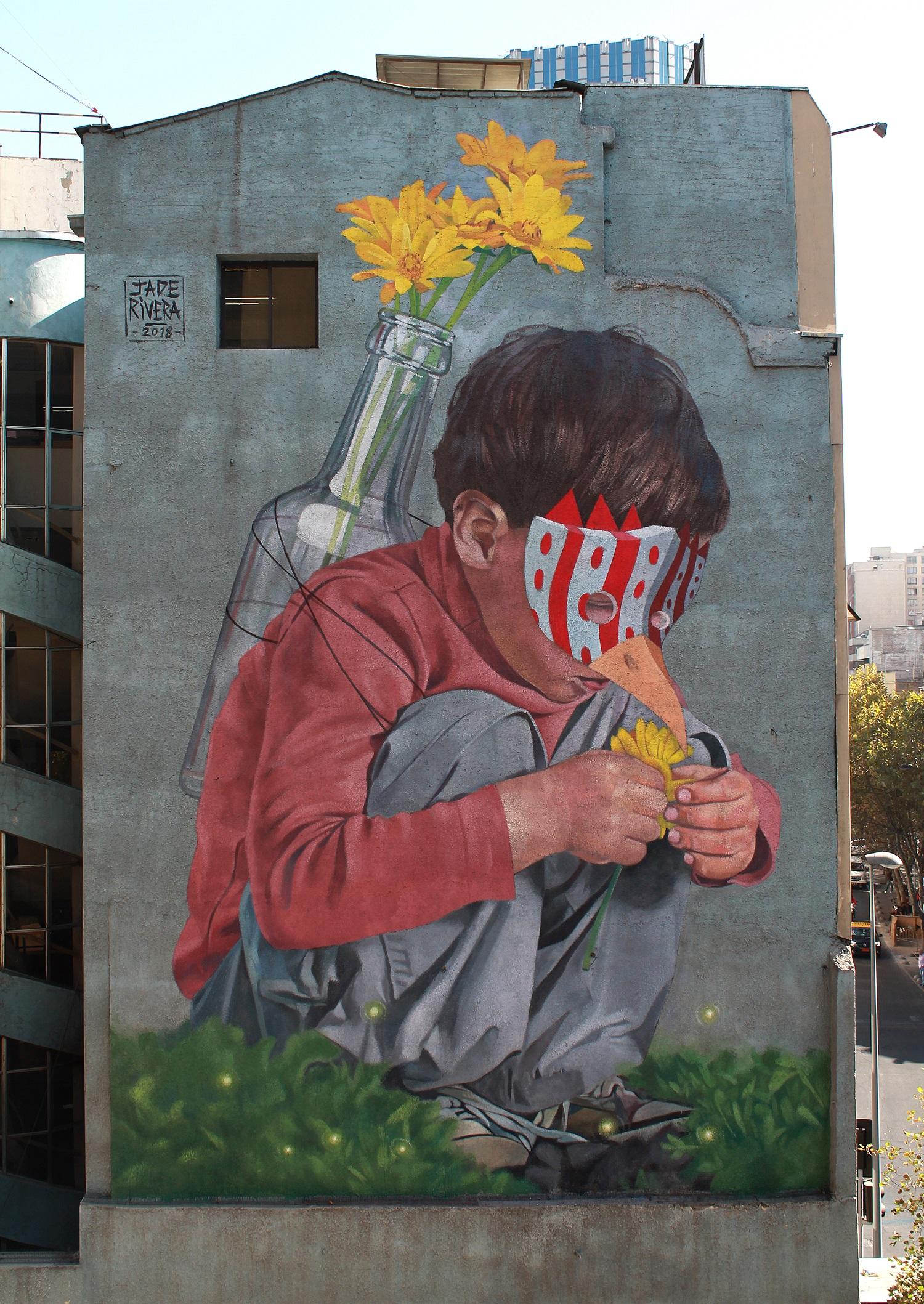 Jade Rivera Barrio Arte Santiago del Cile