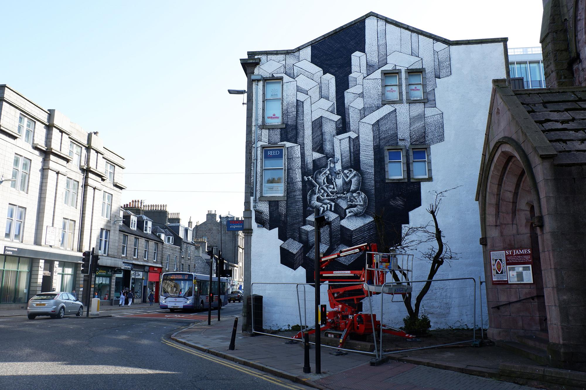 Phlegm Aberdeen street art Nuart Aberdeen