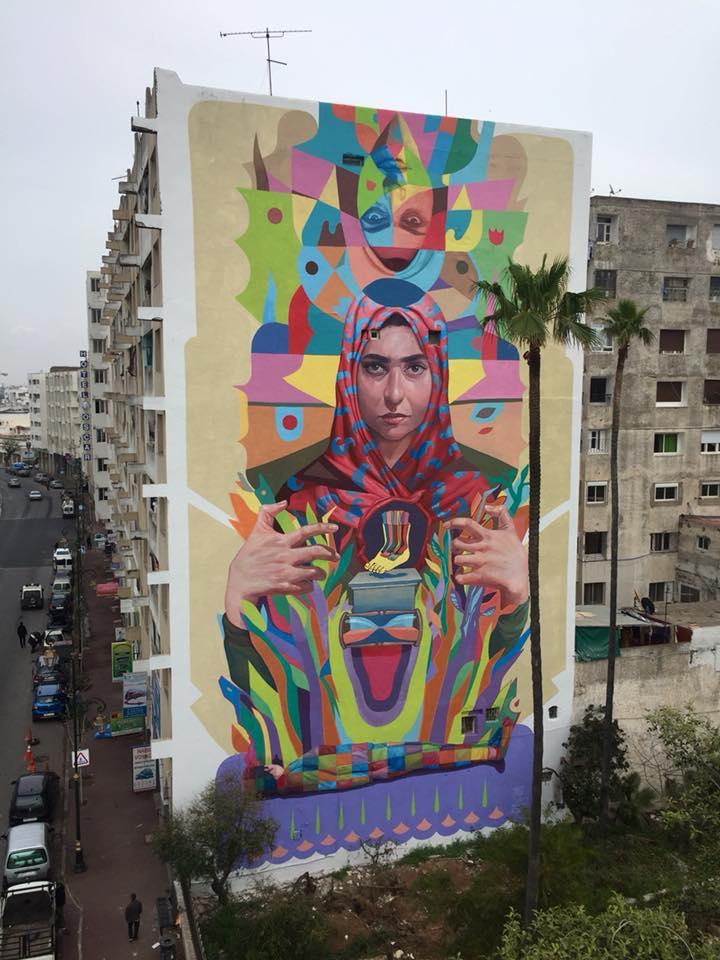 Decertor Rabat JIDAR - Toiles de Rue