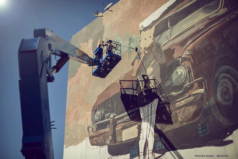 Milu Correch a Rabat in Marocco per JIDAR – Toiles de Rue
